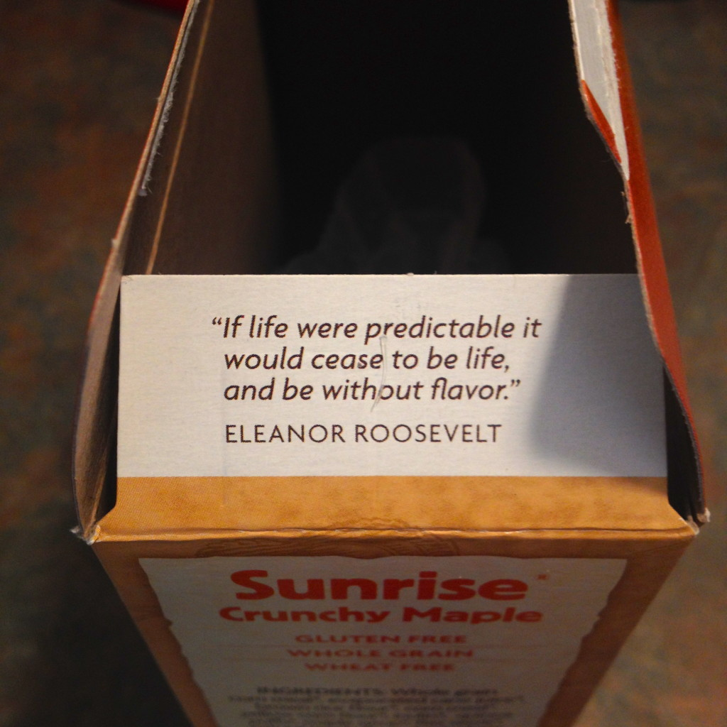 cereal box quote