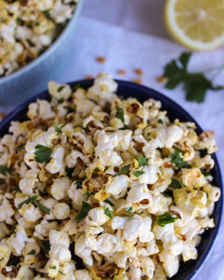 parsley lemon popcorn