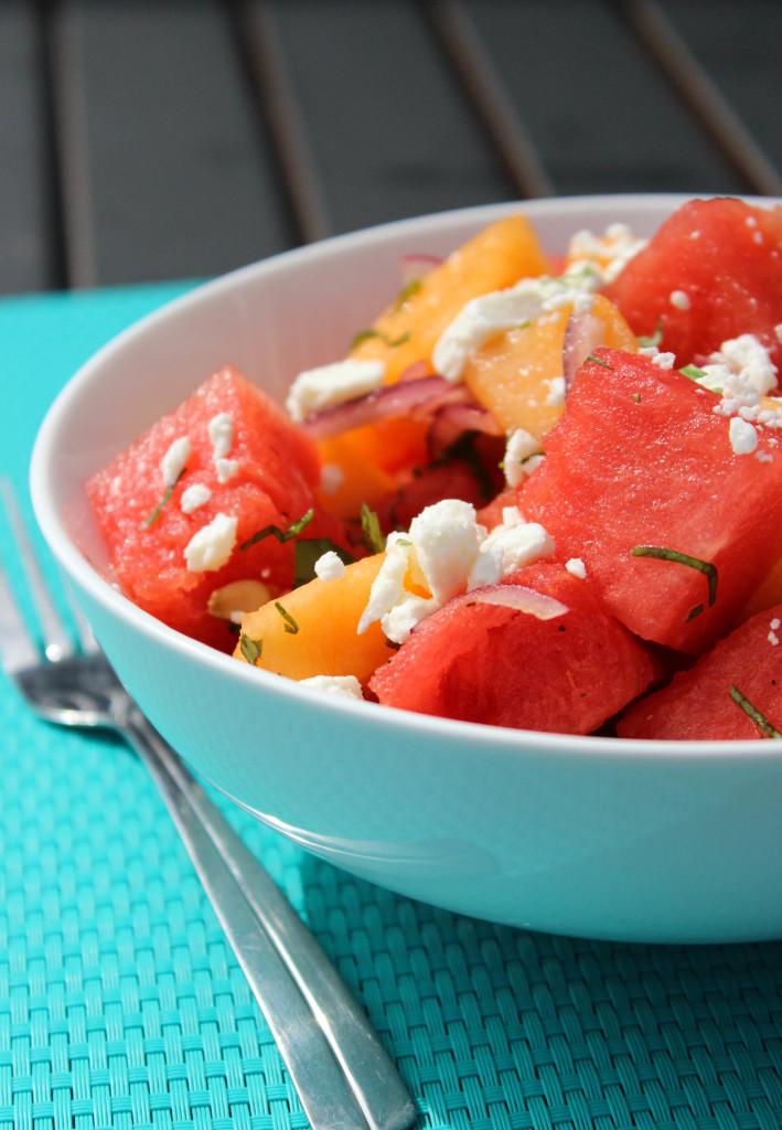 Melon Salad with Feta and Basil