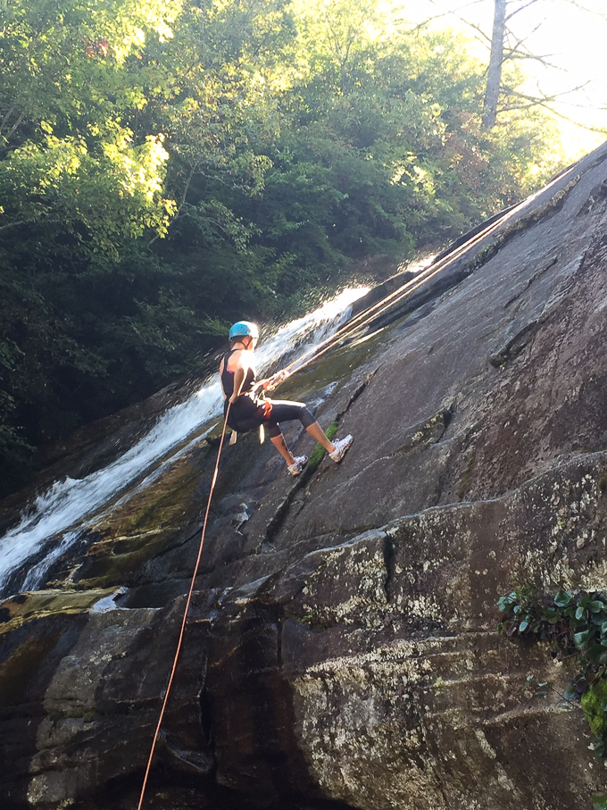 Waterfall Repel -- Asheville Travel
