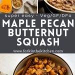 Maple Pecan Squash Pinterest Image