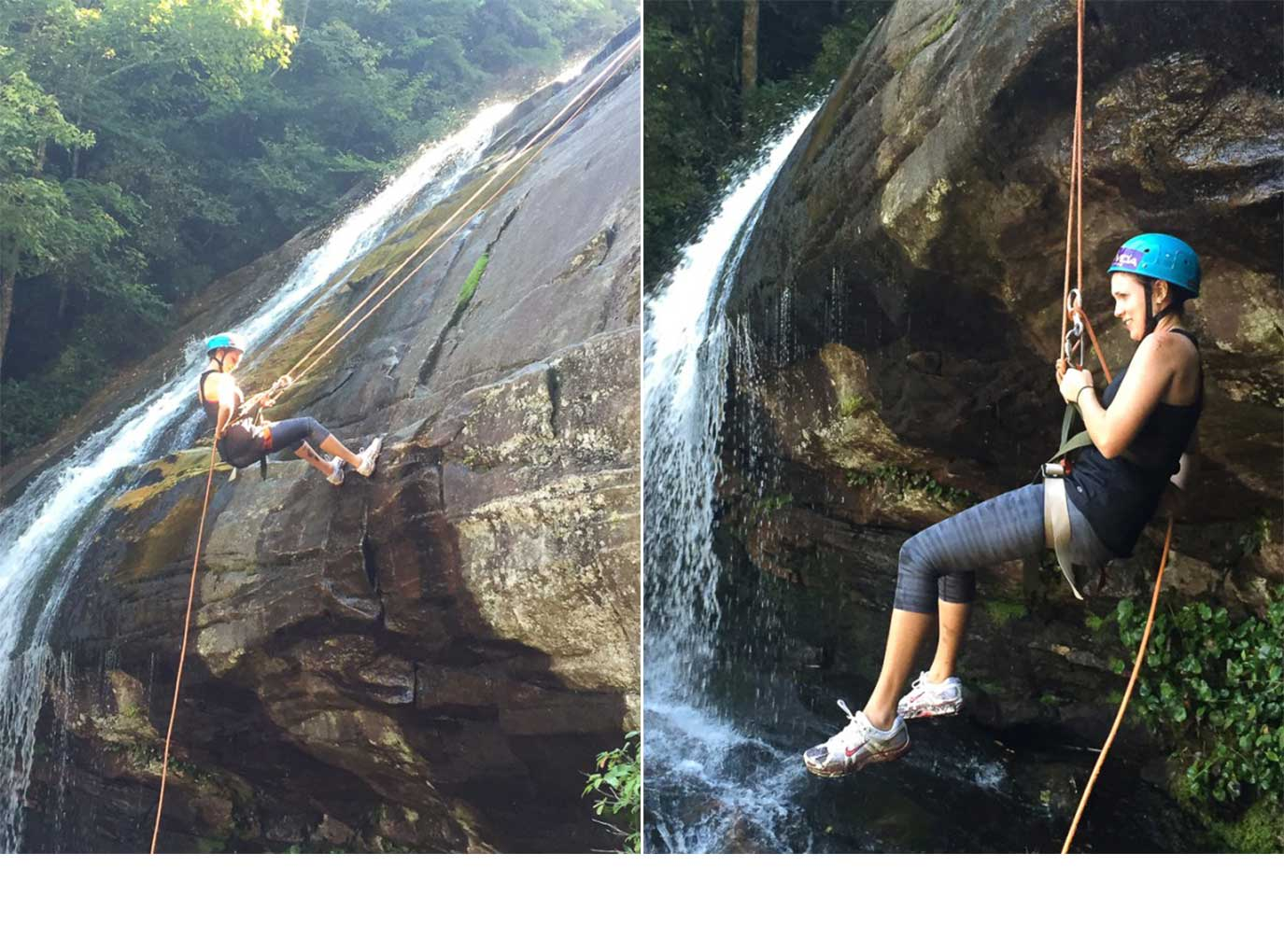 Waterfall Rappel - Asheville, NC | Fork in the Kitchen