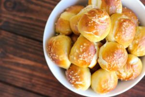 Gouda Stuffed Pretzel BItes