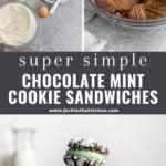chocolate sandwich cookie pinterest image