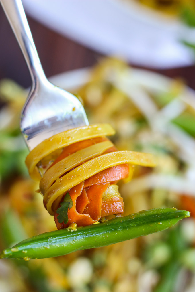 """Vegetable Pad Thai - the perfect at-home """"take out"""" dish, bursting with flavor, freshness, and spice!"""