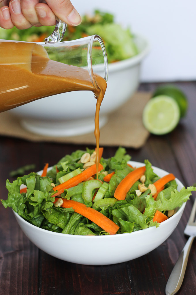 Peanut Sauce Dressing // Fork in the Kitchen