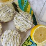 Lemon Poppy Seed Muffins with Almond Icing // www.forkinthekitchen.com