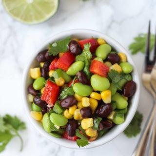 Edamame Black Bean Salad // Fork in the Kitchen
