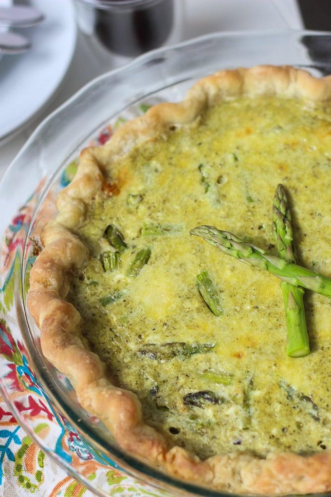 Ricotta, Asparagus, Pesto Quiche // Fork in the Kitchen