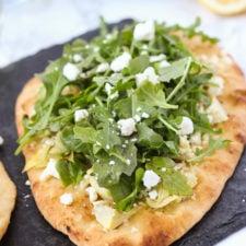 Artichoke and Arugula Flatbread // Fork in the Kitchen