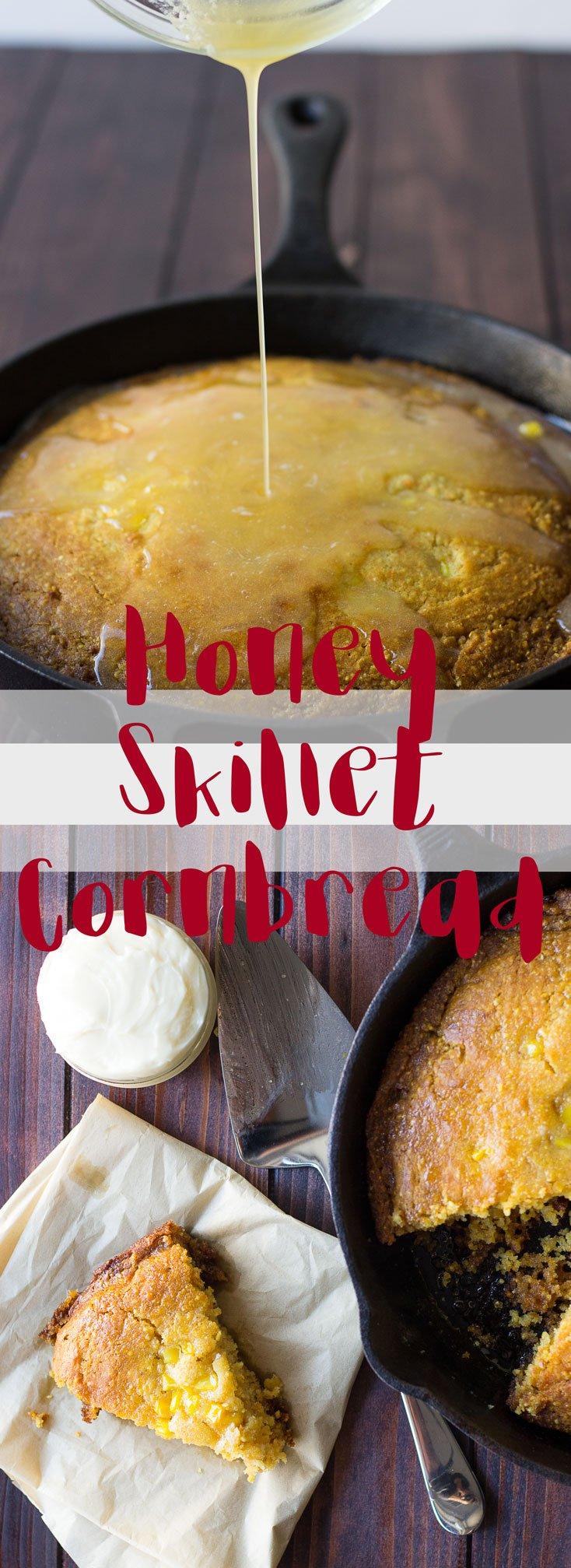 Honey Skillet Cornbread // Fork in the Kitchen