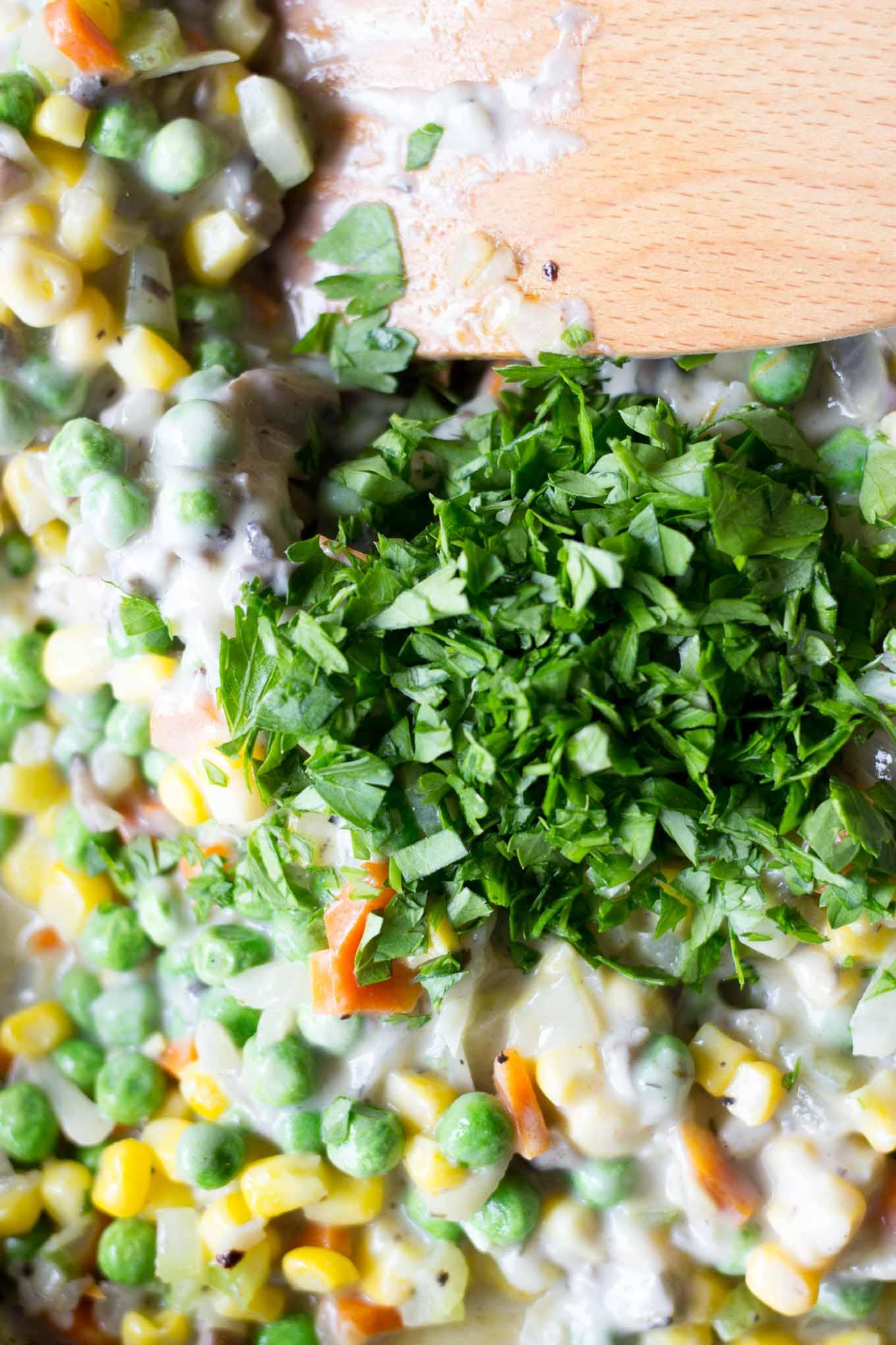 Vegetarian Tater Tot Hotdish // Fork in the Kitchen