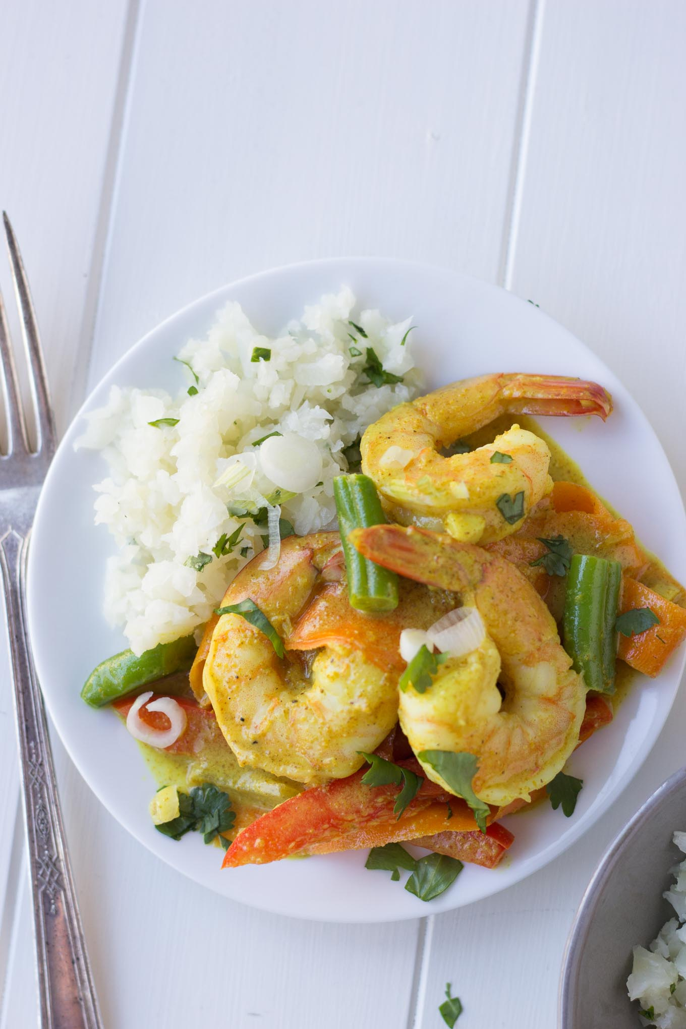 Coconut Shrimp Curry with Cauliflower Rice - Fork in the ...