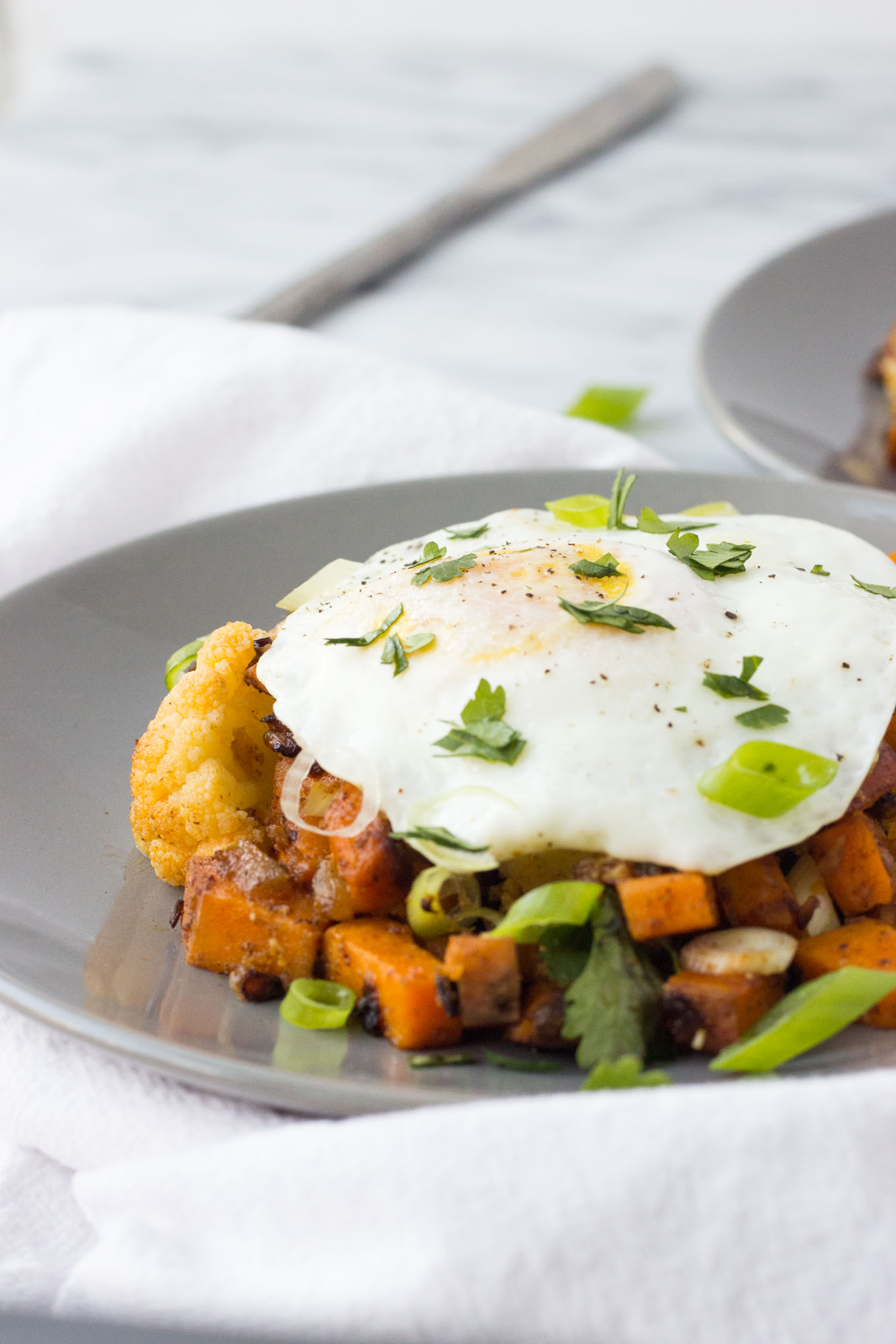 Cauliflower and Sweet Potato Breakfast Hash // Fork in the Kitchen