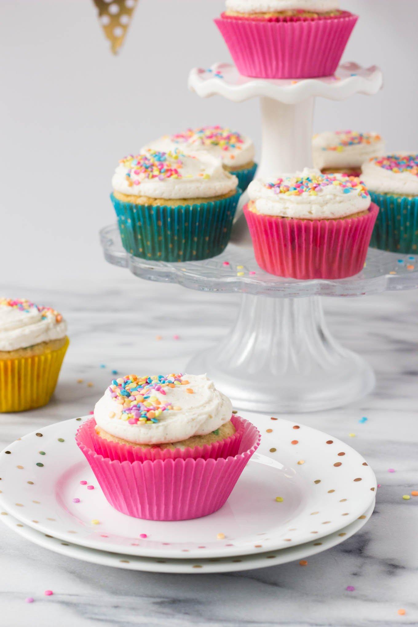 Funfetti Vanilla Cupcakes // Fork in the Kitchen
