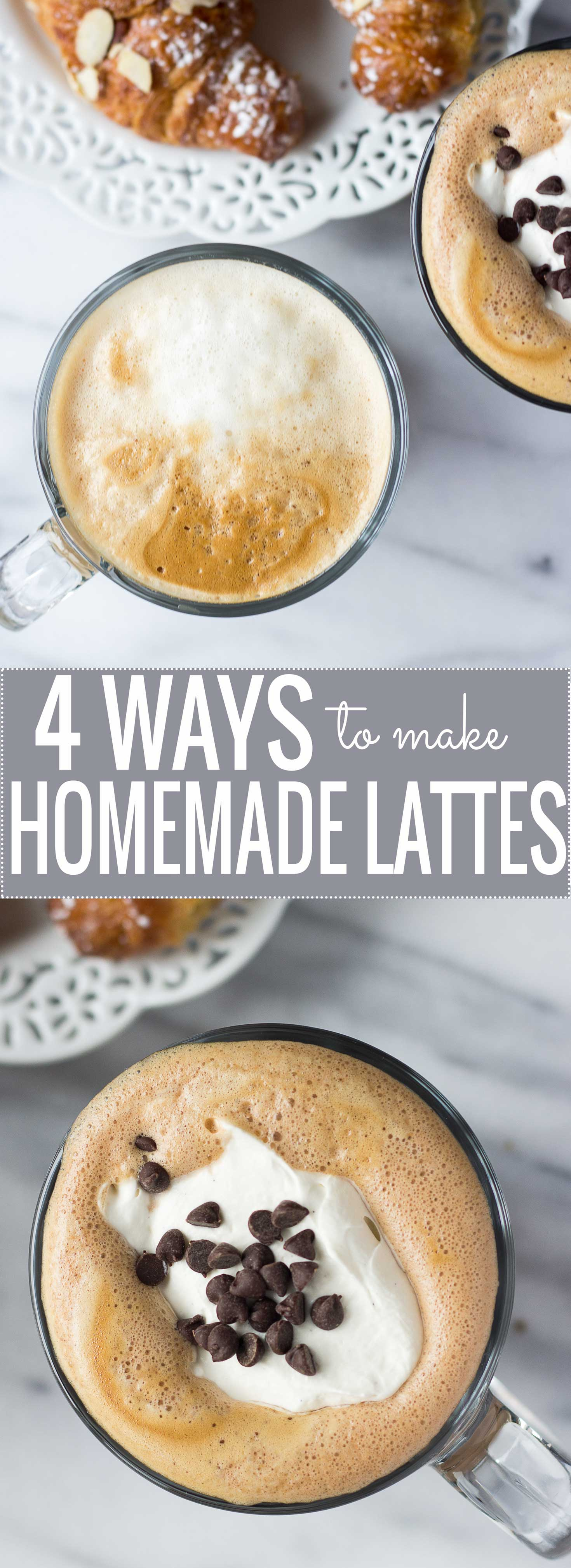 4 Ways to Make Homemade Lattes // Fork in the Kitchen