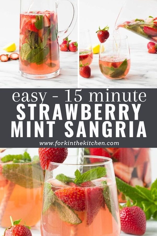 strawberry mint sangria pinterest image