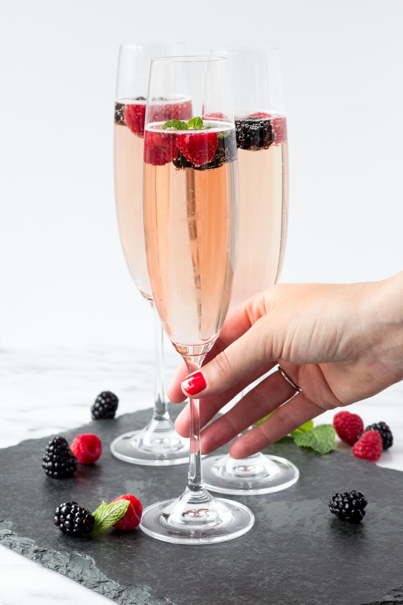 Chambord Berry Champagne | Fork in the Kitchen