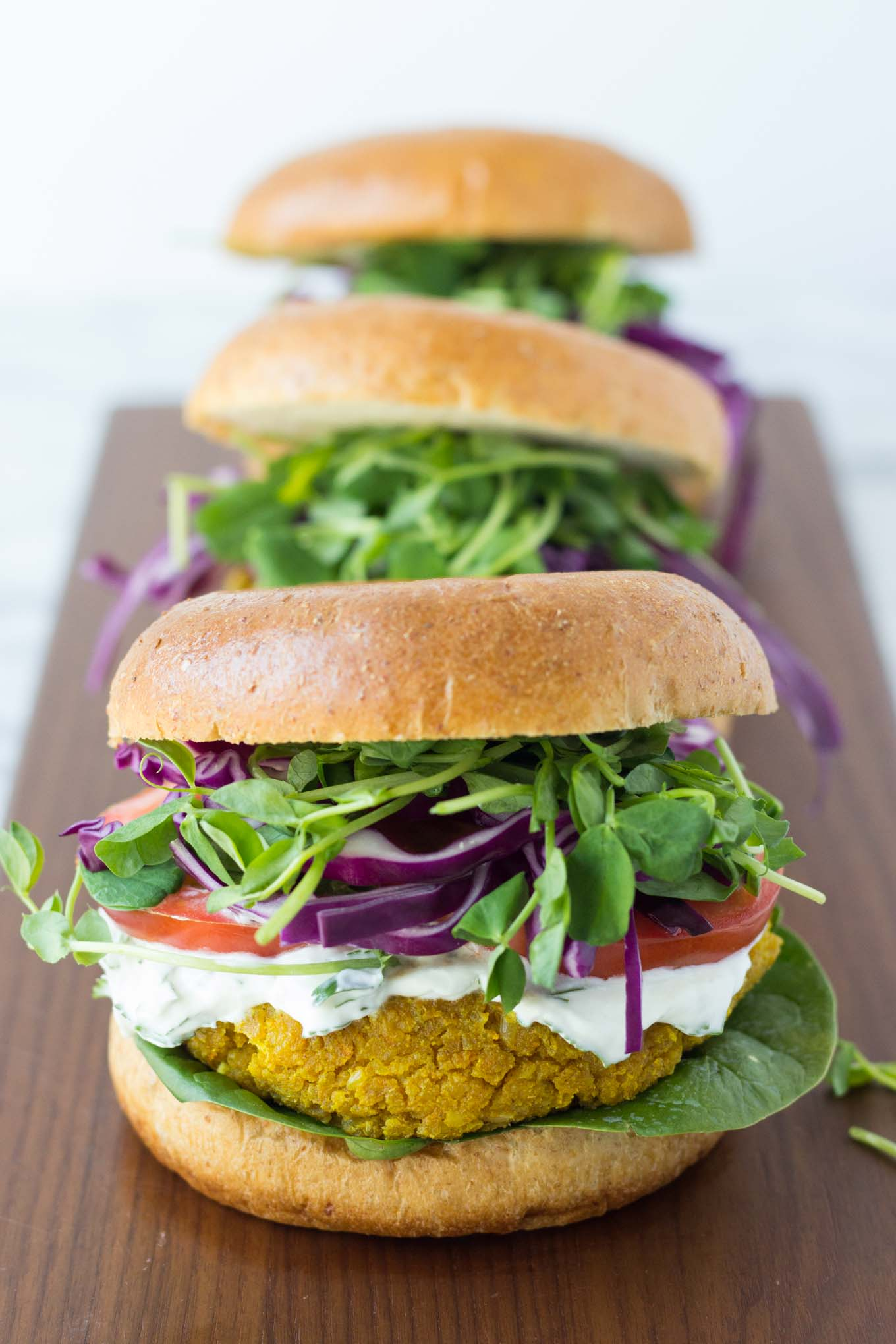 Curried Chickpea Burgers | Fork in the Kitchen