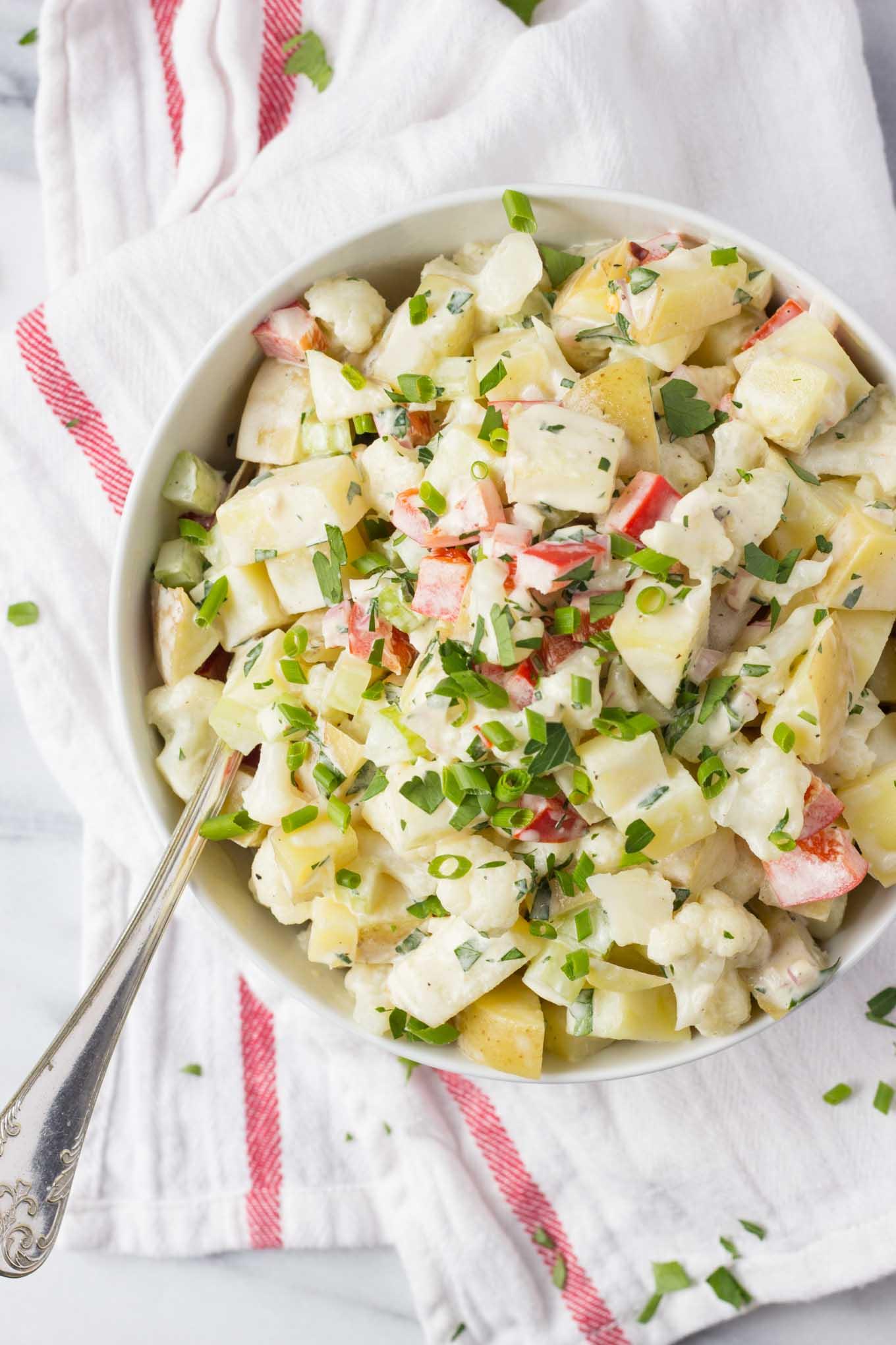 Healthier Potato Cauliflower Salad   Fork in the Kitchen