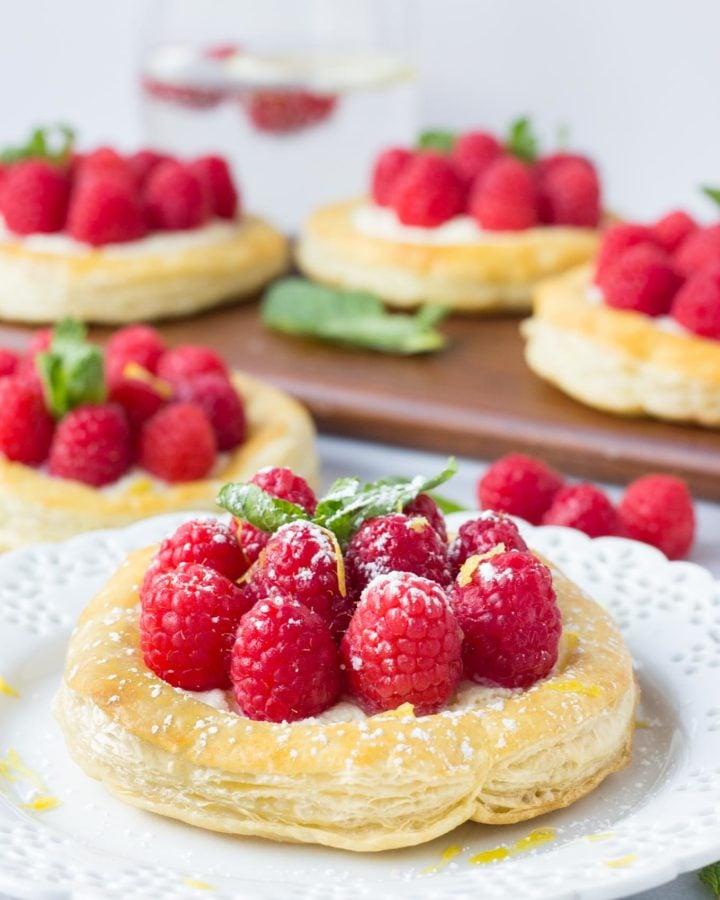 Raspberry Lemon Mascarpone Pastries | Fork in the Kitchen