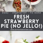 Pinterest image for fresh strawberry pie