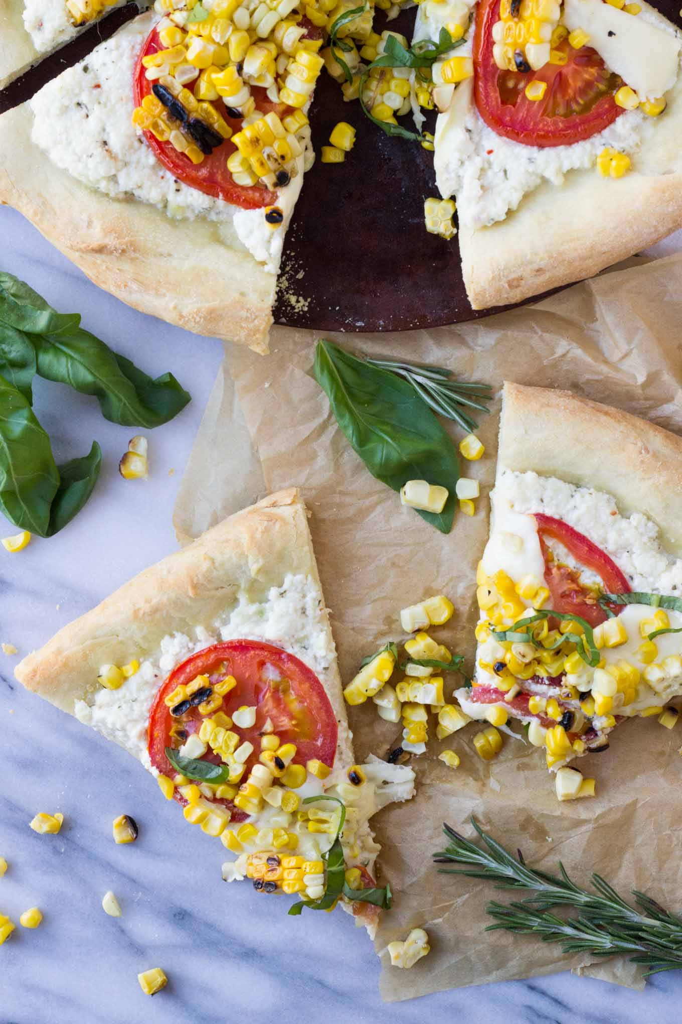 Charred Corn Pizza with Roasted Tomatoes   Fork in the Kitchen