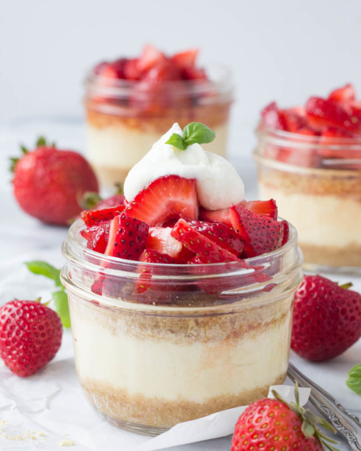 Individual Strawberry Cheesecakes | Fork in the Kitchen