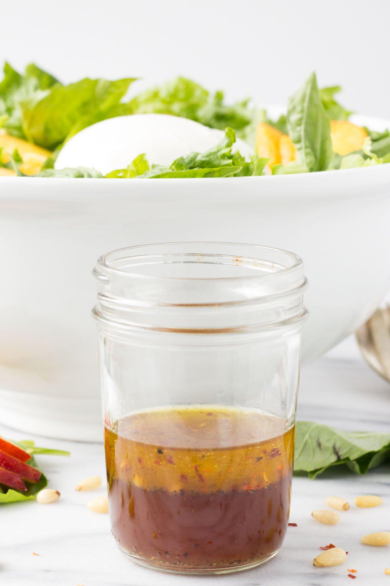 Nectarine Burrata Basil Salad | Fork in the Kitchen