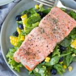Salmon Blueberry Power Salad - a healthy recipe full of brain power foods! | Fork in the Kitchen
