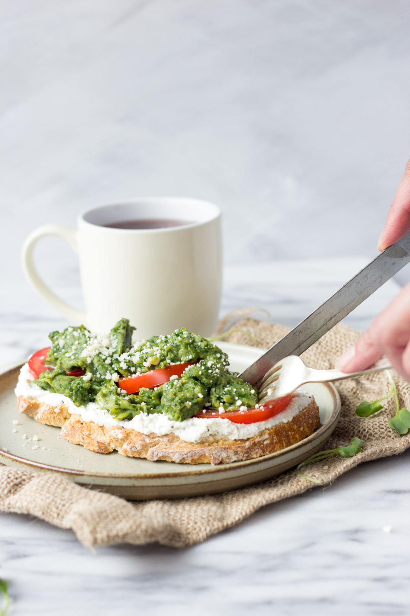Spinach Eggs and Ricotta Toast   Fork in the Kitchen