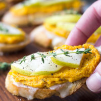 Butternut Squash and Pear Crostini   Fork in the Kitchen