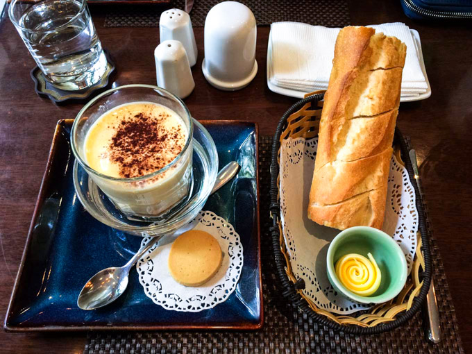 Vietnamese Egg Coffee in Vietnam with a baguette | Fork in the Kitchen