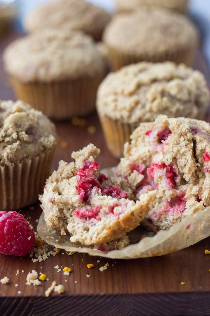 Chai Raspberry Muffins   Fork in the Kitchen