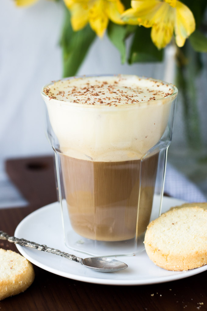 Vietnamese Egg Coffee with cookies - the most luxurious coffee you'll ever have! | Fork in the Kitchen