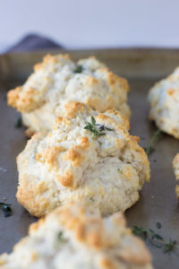 Thyme Parmesan Drop Biscuits   Fork in the Kitchen