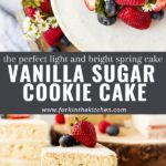 sugar cookie cake pinterest image