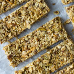 No Bake Apple Granola Bars | Fork in the Kitchen - A quick, no bake granola bar recipe full of crunch, texture, and needs only 8 ingredients! No refined sugar, gluten, or dairy!