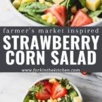 strawberry corn salad pinterest image