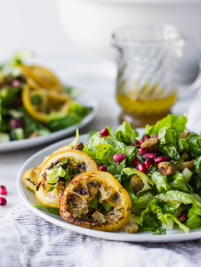 Vibrant Middle Eastern Salad - a simple salad bursting with flavor!   Fork in the Kitchen