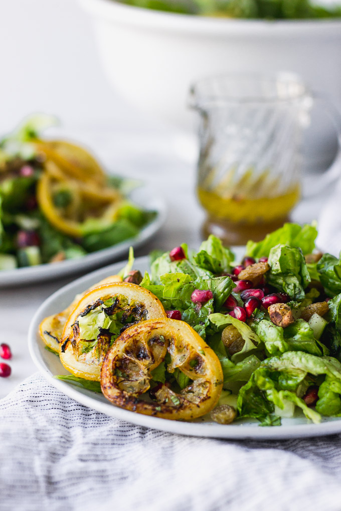 Vibrant Middle Eastern Salad - a simple salad bursting with flavor!  | Fork in the Kitchen