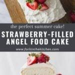 Angel Food Cake Pinterest Image