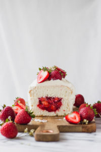 Angel Food Cake with Strawberry Filling   Fork in the Kitchen