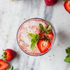 Strawberry Black Pepper Smash | Fork in the Kitchen