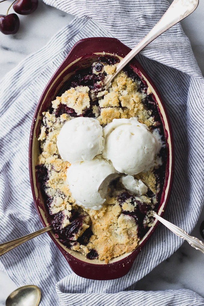 Small Batch Cherry Crisp   Fork in the Kitchen