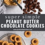 peanut butter cookie with chocolate stars Pinterest image