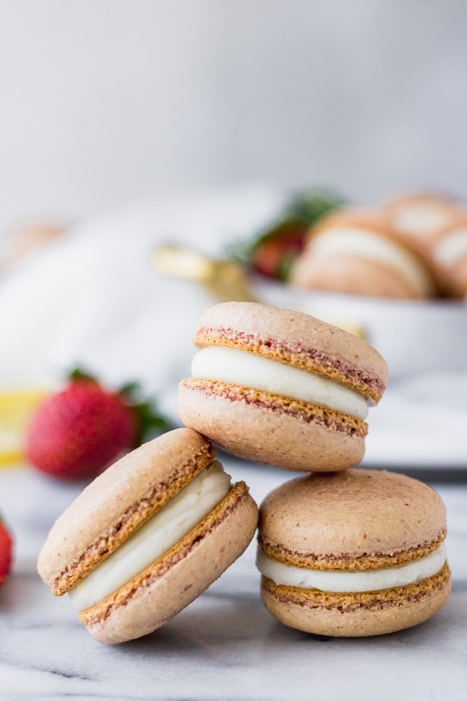 Strawberry Lemon Macarons Perfect For Spring Fork In The Kitchen