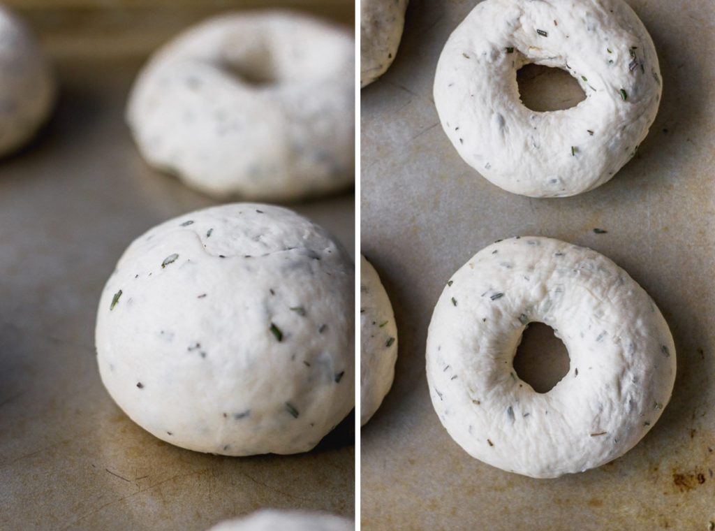 how to shape homemade bagels