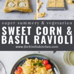 Sweet corn ravioli pinterest image