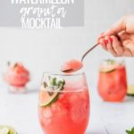 watermelon mocktail for summer in a wine glass
